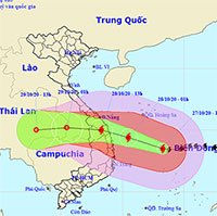 Bão số 9 liên tục tăng cường độ, đêm nay nhiều tỉnh miền Trung mưa lớn
