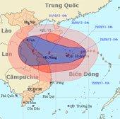 Bão Wutip hướng vào miền Trung