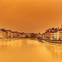 Bầu trời châu Âu chuyển màu
