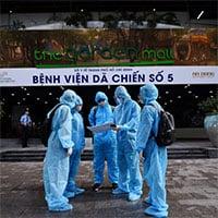 Bệnh viện dã chiến ở Thuận Kiều Plaza trước giờ đón F0