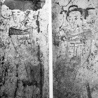 Bích họa người hầu gái trong mộ cổ 1.400 năm ở Trung Quốc