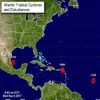 Bộ ba siêu bão đang hoành hành dữ dội trên Đại Tây Dương