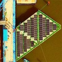Bộ pin mặt trời nổi 555MW có thể chịu gió bão