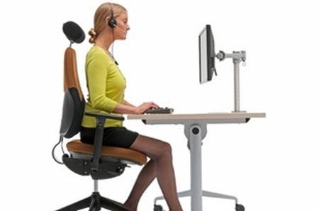 Bố trí chỗ ngồi làm việc tốt nhất cho sức khỏe