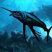 Bộ xương cá kiếm 100 triệu tuổi có hàm răng ngoại cỡ