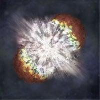 Bức ảnh chưa từng có về một ngôi sao khổng lồ đang nổ