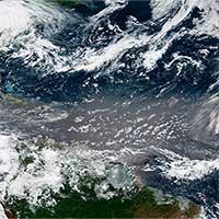 Các đám mây bụi Sahara