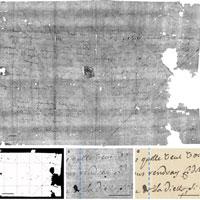 Các nhà khoa học đọc được lá thư 300 tuổi mà không cần mở