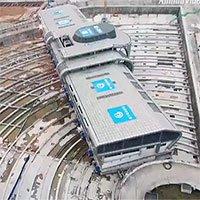 Cách người Trung Quốc di chuyển bến xe buýt 30.000 tấn để nhường đường cho tuyến tàu mới