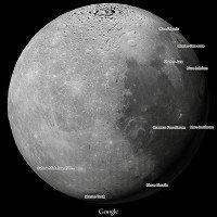 Cách xem Mặt trăng, sao Hỏa bằng Google Maps