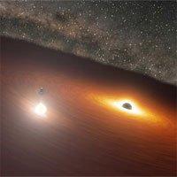 Cặp hố đen tạo ánhsáng mạnh hơn một nghìn tỷ ngôi sao