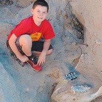 Cậu bé 9 tuổi tìm ra bộ xương hóa thạch 1 triệu năm tuổi