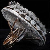 Chiếc nhẫn đính 12.638 viên kim cương lấp lánh lập kỷ lục Guinness