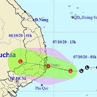 Chiều nay áp thấp nhiệt đới đổ bộ, gây mưa rất to ở miền Trung