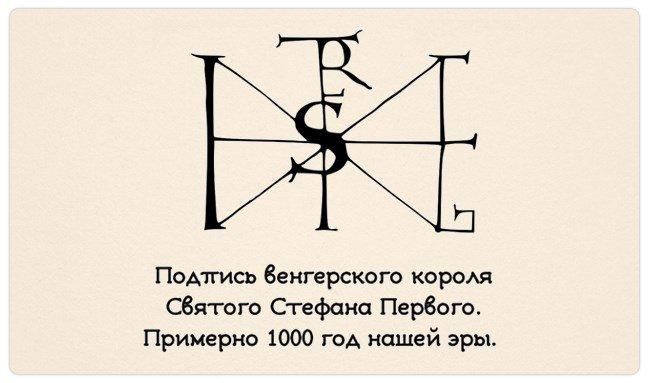 Chữ ký của những người vĩ đại trong lịch sử nhân loại