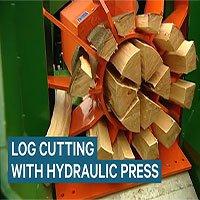Cỗ máy chẻ củi bằng sức ép thủy lực 55 tấn