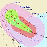 Cơn bão số 7: Tâm bão gió giật cấp 16, mưa to trên diện rộng