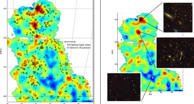 Công bố bản đồ về vật chất tối đầu tiên trên thế giới