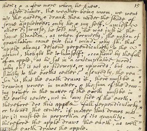 Công bố bằng chứng về việc quả táo rơi trúng đầu Newton