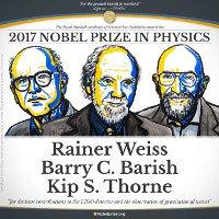 Công trình khám phá sóng hấp dẫn đạt giải Nobel Vật lý 2017
