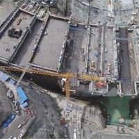 Công trường xây dựng trạm thủy điện lớn thứ hai thế giới