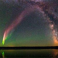 Cực quang màu tím bí ẩn khiến NASA bối rối