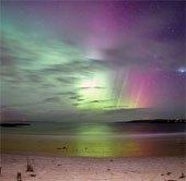 Cực quang tuyệt đẹp tại khu vực đảo Lewis