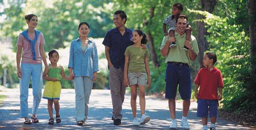 Dạo công viên giúp giải toả bức xúc tinh thần
