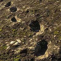 Dấu chân hóa thạch ở núi lửa Roccamonfina là của ai?
