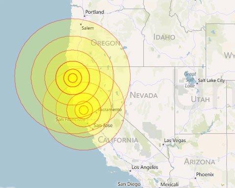 Động đất mạnh ở California