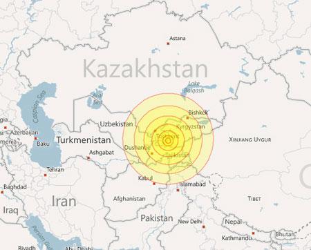 Động đất mạnh ở Trung Á, 14 người thiệt mạng