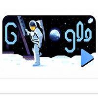 Doodle Google kỉ niệm 50 năm ngày đặt chân lên Mặt trăng