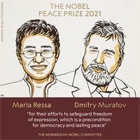 Giải Nobel Hòa bình 2021 vinh danh hai nhà báo Philippines và Nga