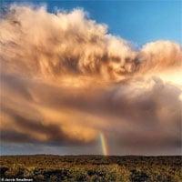 """Gương mặt trên bầu trời: Ảnh đám mây của nam sinh 14 tuổi khiến nhiều người """"dựng tóc gáy"""""""