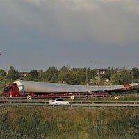 Hành trình 7.000 km vận chuyển cánh turbine gió dài 70m