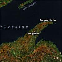 Hình ảnh lá mùa thu đổi màu nhìn từ vũ trụ