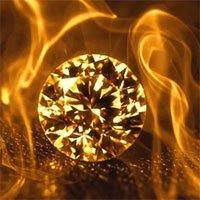 Kim cương đốt có cháy không?