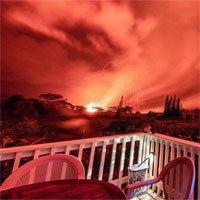 Kinh sợ cảnh bầu trời rực cháy như hoả ngục vì núi lửa Hawaii