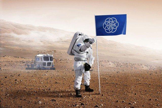 Lá cờ mà con người sẽ cắm lên hành tinh của người ngoài Trái đất