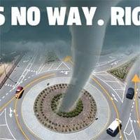 Liệu lái xe thành vòng tròn có thể tạo ra lốc xoáy không? Hãy nghe chuyên gia trả lời!