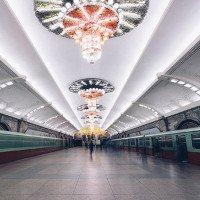 Loạt ảnh ga tàu điện ngầm sâu nhất thế giới ở Bình Nhưỡng