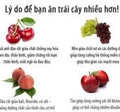Lý do nên ăn nhiều trái cây