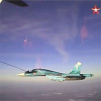 Mãn nhãn cảnh tiếp nhiên liệu trên không cho tiêm kích Sukhoi của quân đội Nga