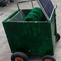 Máy trồng hành tím tự động, chạy bằng năng lượng mặt trời