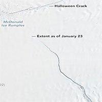 Một tảng băng khổng lồ sắp tách khỏi Nam cực