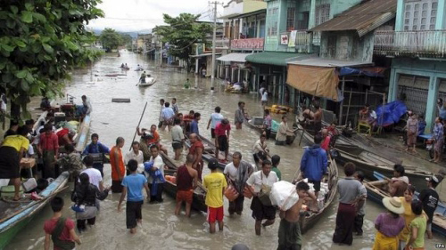 Mưa lớn ở Ấn Độ và Myanmar khiến nhiều người chết