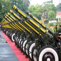 Nghi thức bắn 21 phát đại bác đón nguyên thủ quốc gia