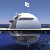 Ngôi nhà UFO trôi nổi trên đại dương