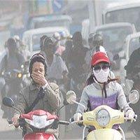 Nhiều người mắc bệnh tai mũi họng do ô nhiễm không khí