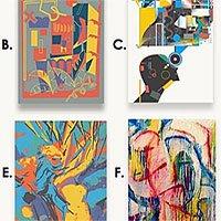Nhìn các bức tranh này, bạn có đoán được bức nào không phải do con người tạo ra không?